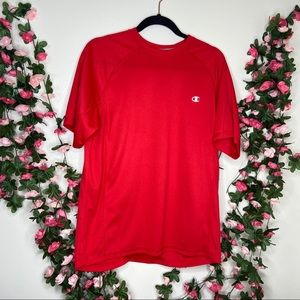 🌹Champion Mens Double Dry Athletic Top Medium Red
